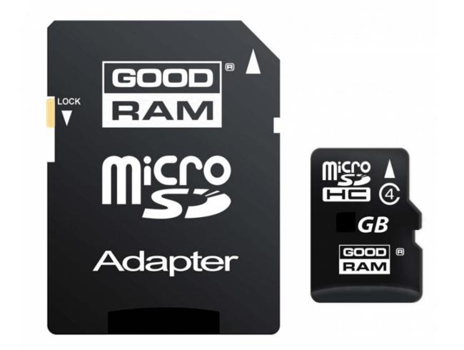 Mikro-Karta Pamięci/Zapisu Flash SD/HC 32GB + Adapter SD.